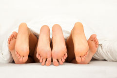 Threesome Füße Stockbild