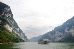 Threet Gorges av Yangtzet River Fotografering för Bildbyråer