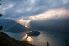 Threet Gorges av Yangtzet River Arkivbilder