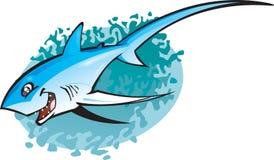 thresha καρχαριών κινούμενων σχεδίων διανυσματική απεικόνιση