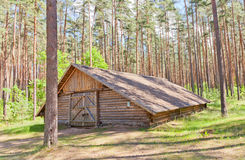 Threshing house circa 19th c. in Ethnographic Open-Air Museum Stock Images