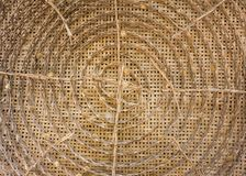 Threshing silk,Home appliance ,Bamboo weave. Weave container Shape Weave inside a curved inside. To raise silkworms royalty free stock images