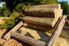 Threshing stone Stock Photography