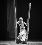 The threshold of inside and outside-Errand into the maze-Modern dance-choreographer Martha Graham. In December 19, 2014, Shi Feifei the dancer dance work session Royalty Free Stock Photos
