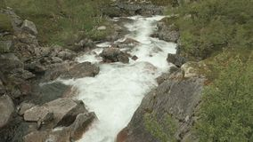 Threshold in the river. Norway stock video footage