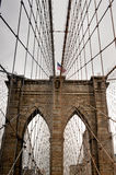 Threw Brooklyn bridge in New York Royalty Free Stock Image