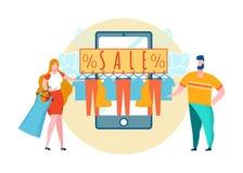Thrift διανυσματική απεικόνιση κινούμενων σχεδίων πωλήσεων καταστημάτων ελεύθερη απεικόνιση δικαιώματος