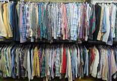 thrift store shirts Stock Photos