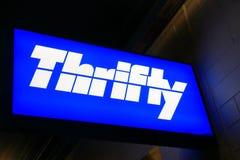 Thrifty car rental company Royalty Free Stock Photography