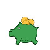 Thrifty piggy bank Royalty Free Stock Photos