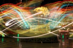 thrill езды funfair Стоковая Фотография