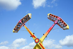Thrill ride at amusement park Royalty Free Stock Photography