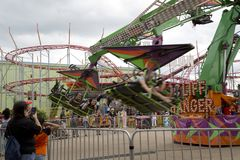 Thrill ride  at State Fair Texas  Dallas Fair Park Royalty Free Stock Images