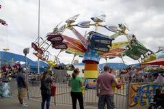 Thrill ride at State Fair Texas 2017 Fair Park stock photo