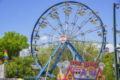 Thrill rides at the famous Cinco de Mayo Festival. Denver, MAY 8: Thrill rides at the famous Cinco de Mayo Festival on MAY 8, 2017 at Denver, Colorado