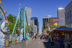 Thrill rides at the famous Cinco de Mayo Festival Stock Images