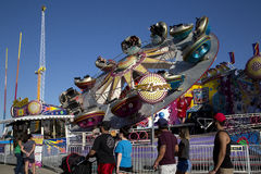 Thrill rides at State Fair of Texas Dallas Royalty Free Stock Photo