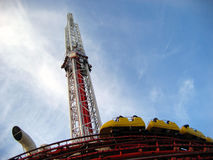 Thrill Rides at the Stratosphere, Las Vegas, Nevada Stock Photos