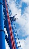 thrill rollercoater платформы Стоковые Фотографии RF
