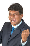 Thrilled Indian man stock photo