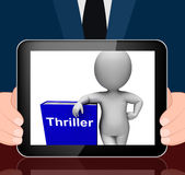 Thriller Book And Character Displays Books About Action Adventur Royalty Free Stock Photography