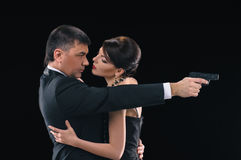 Thriller couple Royalty Free Stock Photos