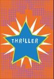 Thriller des textes d'écriture Concept signifiant le jeu ou le film nouveau avec le complot passionnant comportant typiquement le illustration de vecteur