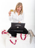 Thrilling home shopping Stock Image