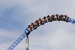 Thrilling roller coaster Royalty Free Stock Image