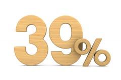 Thrity εννέα τοις εκατό στο άσπρο υπόβαθρο Απομονωμένο τρισδιάστατο illustratio Στοκ φωτογραφία με δικαίωμα ελεύθερης χρήσης