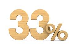 Thrity τρία τοις εκατό στο άσπρο υπόβαθρο Απομονωμένο τρισδιάστατο illustrati Στοκ Φωτογραφίες