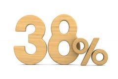 Thrity eight percent on white background. Isolated 3D illustrati. On vector illustration