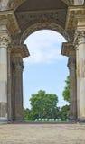Thriumphalboog bij het Nieuwe Paleis van Potsdam, Berlijn, Duitsland Royalty-vrije Stock Afbeeldingen