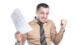 Thriving businessman Stock Photography