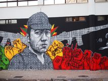 Thriving urban graffiti and street art scene in Lisbon, Portugal, 2014. Since the mid-2010s, Lisbon is experiencing a burgeoning urban art scene, of which the Stock Images