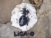 Thriving urban graffiti and street art scene in Lisbon, Portugal, 2014. Since the mid-2010s, Lisbon is experiencing a burgeoning urban art scene, of which the Stock Photo