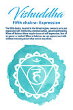 The Throat Chakra vector illustration Stock Photography