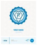 Throat chakra Vishuddha. Chakras, energy healing and yoga poses infographic Stock Photography