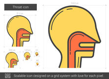 Throat line icon. Throat vector line icon isolated on white background. Throat line icon for infographic, website or app. Scalable icon designed on a grid Royalty Free Stock Image