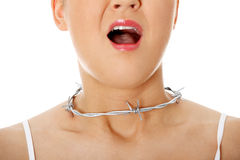 Throat pain concept. Royalty Free Stock Photography