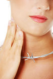 Throat pain concept. Stock Photo