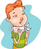 Throatache (child) Stock Photography