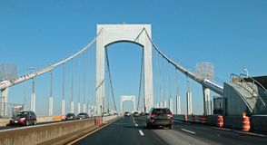 Throgs-Hals-Brücke, Bronx, New York City stockfoto