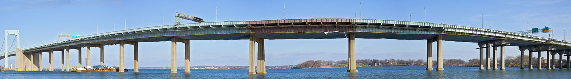 Throgs Neck Bridge Panorama Royalty Free Stock Image