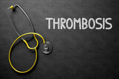 Thrombosis Concept on Chalkboard. 3D Illustration. Stock Image