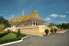 Thron Hall im Royal Palace-Mittel, Phnom Penh, Kambodscha Stockbild