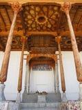 Throne. Od buchara throne in tha castle stock photos