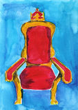 Throne. The royal throne on a blue background vector illustration