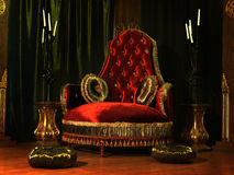 The throne Stock Photography