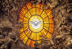 Throne Bernini Holy Spirit Dove, Saint Peter`s Basilica In Rome Royalty Free Stock Photo
